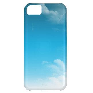 El azul cielo se nubla la caja del iPhone 5 Funda Para iPhone 5C