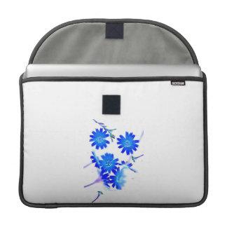 El azul colorized diseño dispersado de las flores fundas para macbook pro