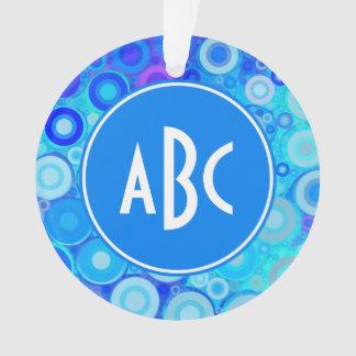 El azul con monograma de la aguamarina suena el mo