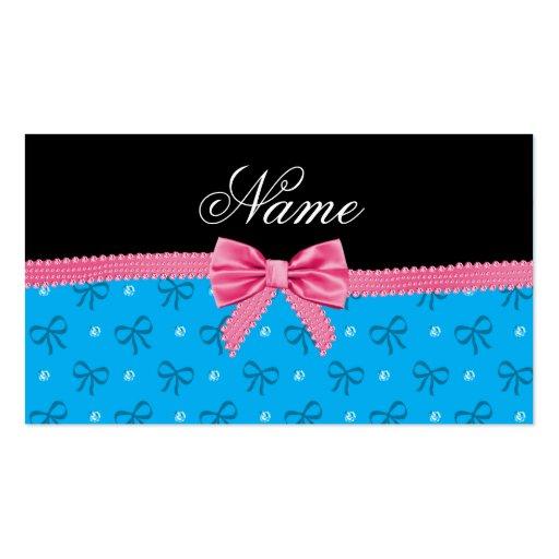 El azul conocido personalizado arquea diamantes co tarjetas de negocios