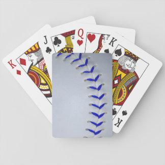 El azul cose béisbol/softball baraja de cartas