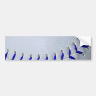 El azul cose béisbol/softball etiqueta de parachoque