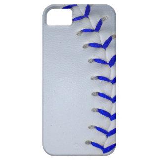 El azul cose béisbol/softball funda para iPhone SE/5/5s