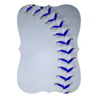 "El azul cose béisbol/softball invitación 5"" x 7"""
