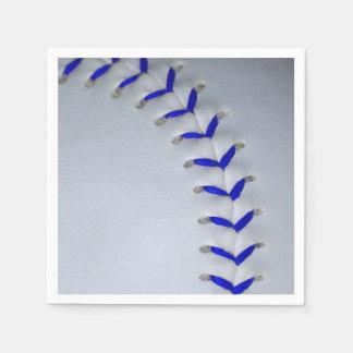 El azul cose béisbol/softball servilletas desechables