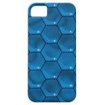 El azul cubica el caso del iPhone iPhone 5 Carcasas