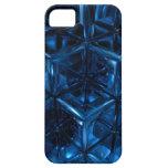 El azul cubica la caja de la casamata iPhone 5 Case-Mate cárcasa