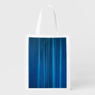 El azul cubre bolsa reutilizable