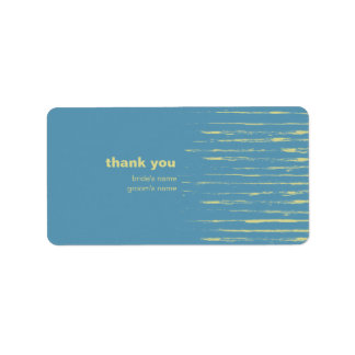 El azul de acero le agradece pegatina del regalo etiquetas de dirección