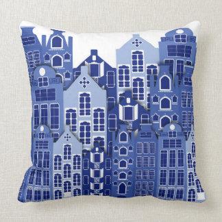 El azul de Amsterdam del holandés contiene la Cojín