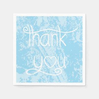 El azul de cielo apenado le agradece ir de fiesta servilleta de papel