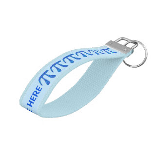 El azul de cielo azul del pi del símbolo del friki llavero de pulsera