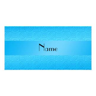 El azul de cielo conocido personalizado ajusta tarjetas personales