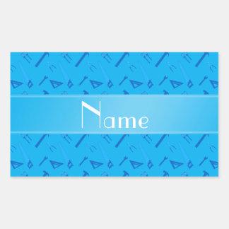 El azul de cielo conocido personalizado equipa el etiquetas