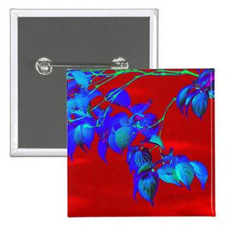 El azul de cielo rojo sale del botón pin cuadrado