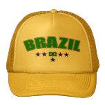El azul de cinco estrellas del Brasil redactó el Gorros Bordados