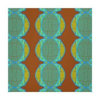 El azul de cobre abstracto moderno de Brown Lona Estirada Galerias