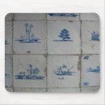 El azul de Delft teja Mousepad Tapetes De Ratón