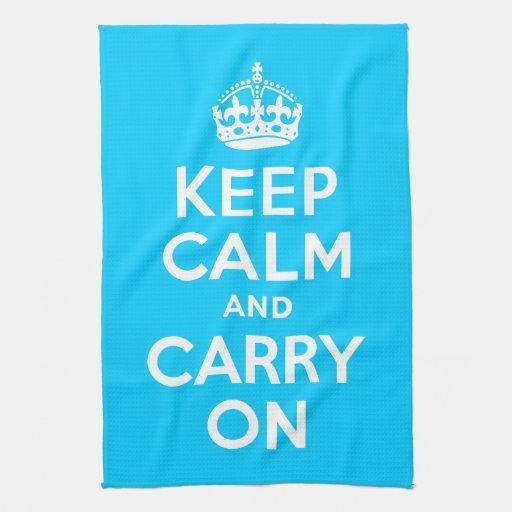 El azul de la aguamarina guarda calma y continúa toalla de mano