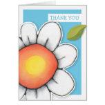 El azul de la alegría de la margarita le agradece  tarjetas