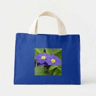 El azul de la primavera florece el tote bolsa lienzo