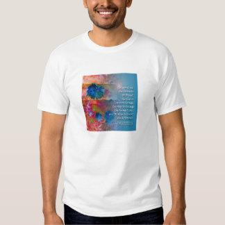 El azul de la serenidad florece la camiseta playera