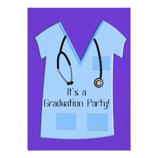 El azul de las invitaciones de la graduación de la invitación