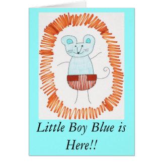 ¡El azul de Little Boy está aquí!! Tarjeta De Felicitación