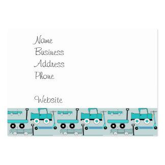 El azul de los muchachos rueda los camiones retros plantillas de tarjetas personales