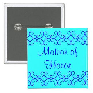 El azul de lujo del colorblock colorea a la matron pin