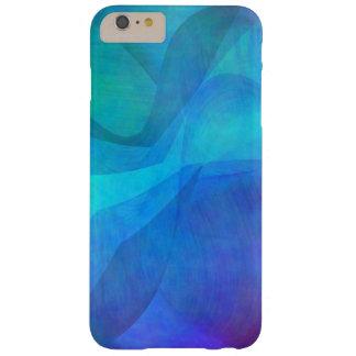 El azul de océano agita iPhone abstracto 6 casos Funda De iPhone 6 Plus Barely There