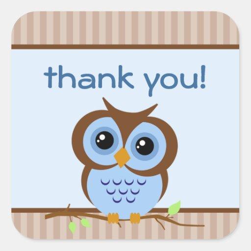 El azul de Owly le agradece pegatina