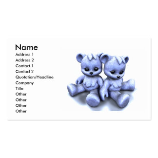 El azul de Plushie lleva la tarjeta de visita