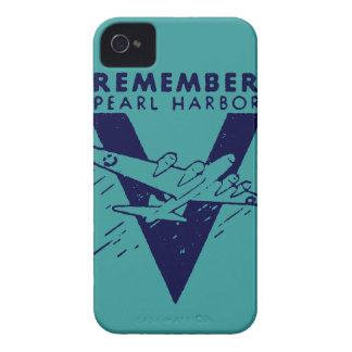 El azul de WWII recuerda el Pearl Harbor iPhone 4 Case-Mate Protector