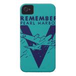 El azul de WWII recuerda el Pearl Harbor Case-Mate iPhone 4 Cárcasas