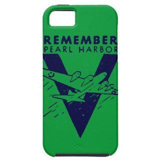 El azul de WWII recuerda el Pearl Harbor Funda Para iPhone 5 Tough