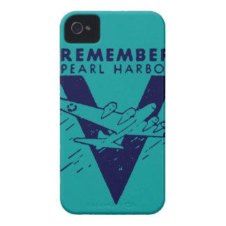 El azul de WWII recuerda el Pearl Harbor Funda Para iPhone 4