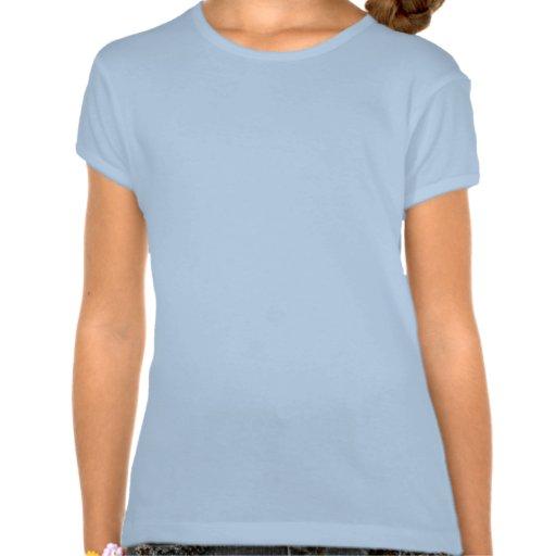 El azul del adorno del corazón embroma la camiseta