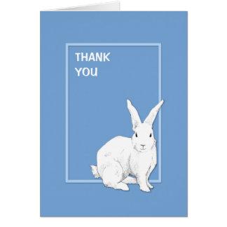 El azul del conejo le agradece tarjeta de nota