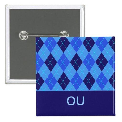 El azul del modelo de Argyle personalizó el perno  Pin