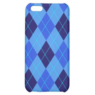 El azul del modelo de Argyle sombrea la caja del i