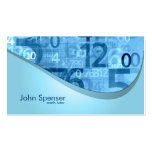 El azul del profesor particular de la matemáticas  plantilla de tarjeta de visita