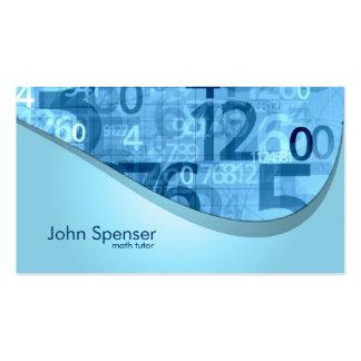 El azul del profesor particular de la matemáticas  tarjetas de visita
