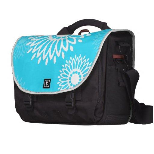El azul del verano florece el bolso del carrito bolsas de portátil