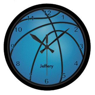 El azul el | del baloncesto el | personaliza reloj redondo grande