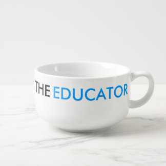 El azul elegante del profesor de escuela del tazón para sopa