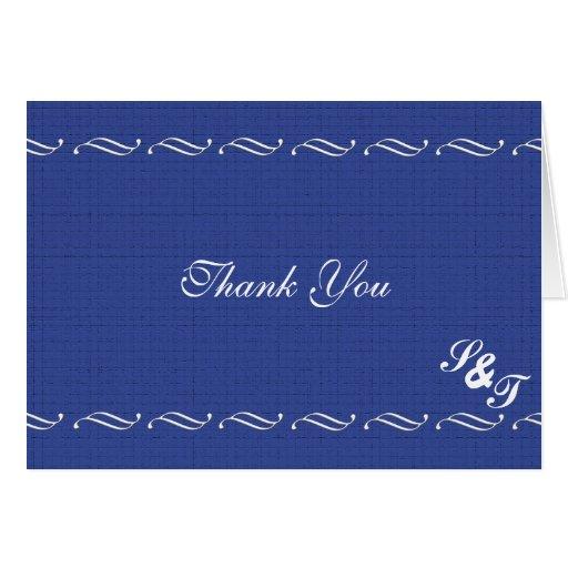 El azul elegante le agradece felicitacion