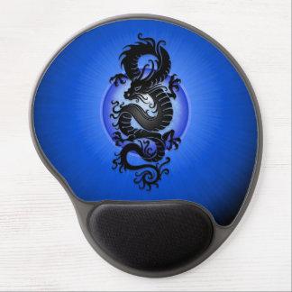 El azul estalló el dragón chino alfombrilla de ratón con gel