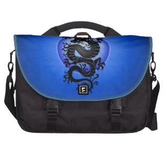 El azul estalló el dragón chino bolsas de ordenador
