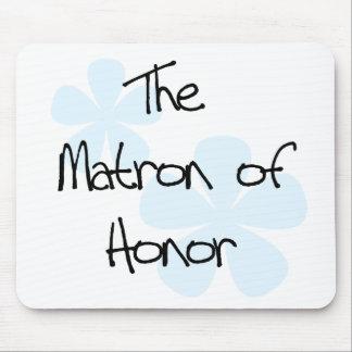El azul florece a la matrona del honor alfombrillas de raton